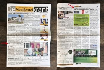 Voorpagina nieuws MooiBoxtel Krant