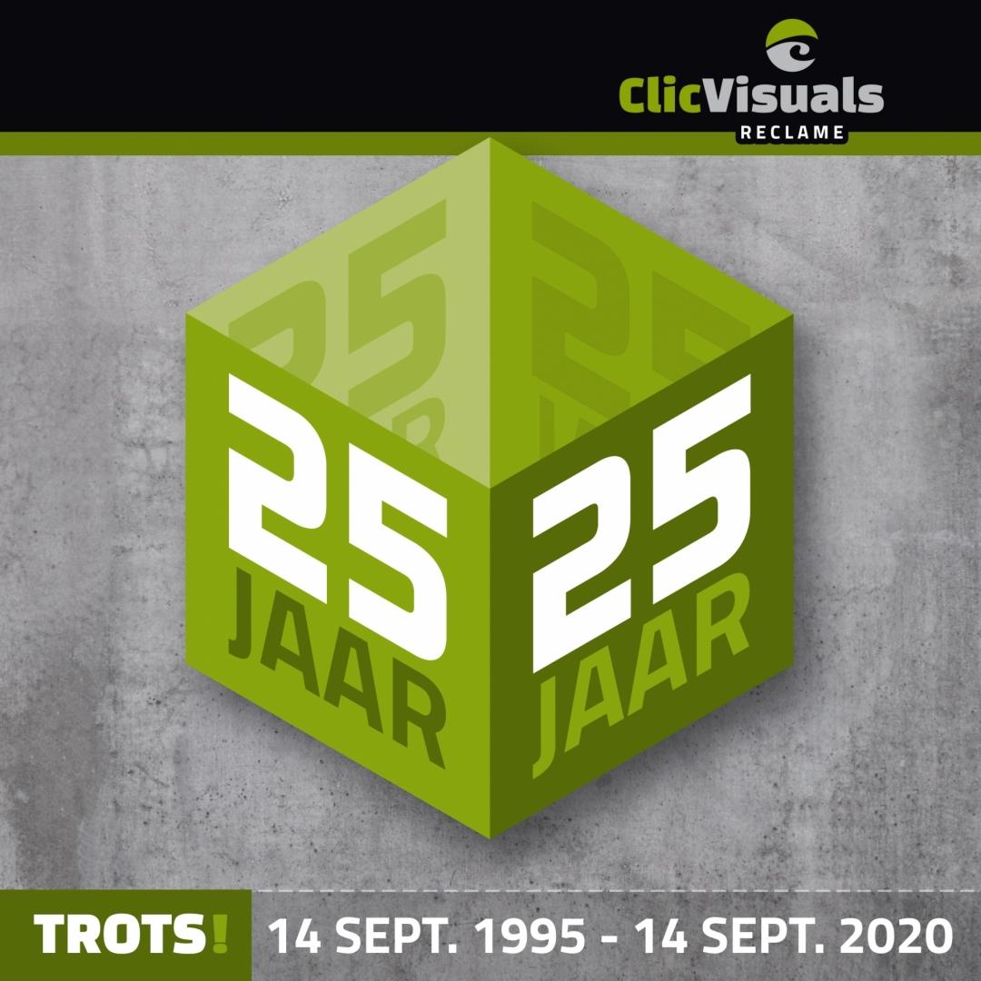 25 Jaar Clic Visuals Reclame! Trots is het juiste woord