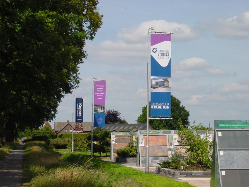 Garden Stones & Basics Oisterwijk - spandoeken en baniervlaggen