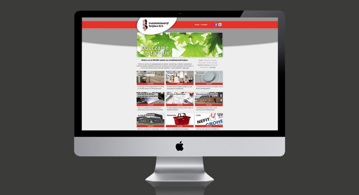 Snijders Installatiebedrijf - Webdesign
