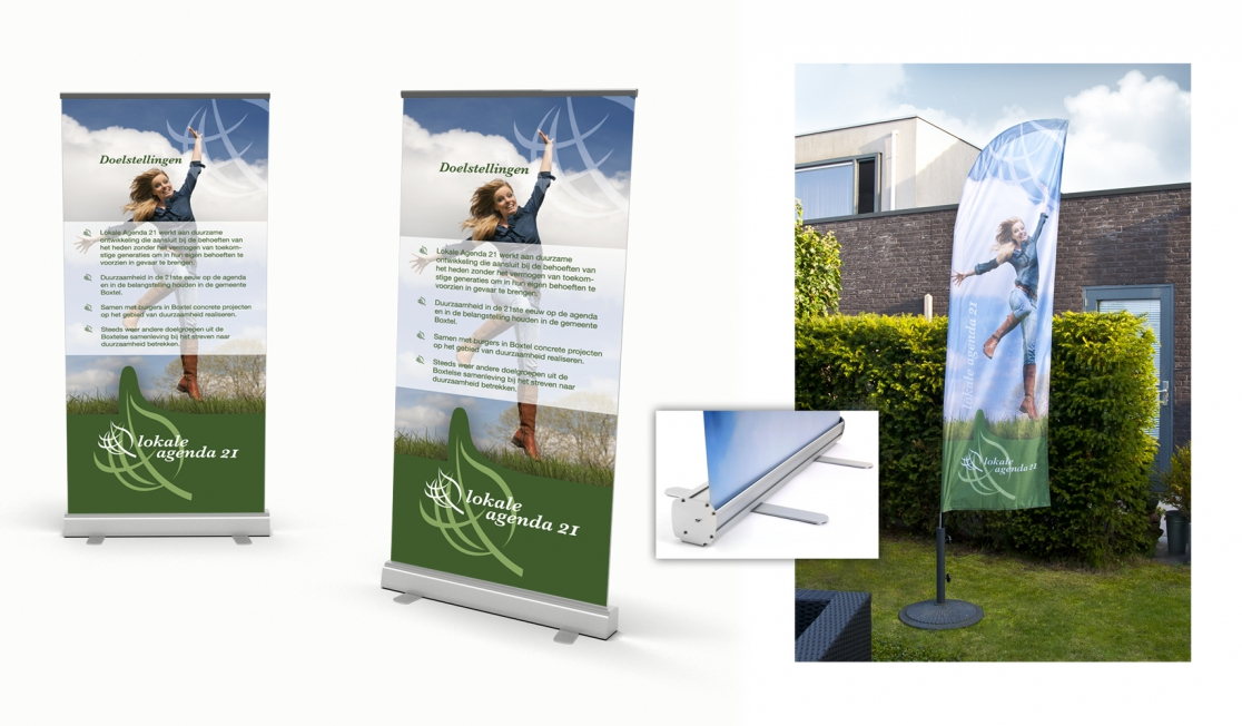 Gemeente Boxtel - Roll-up banners + Beachflags Lokale Agenda 21