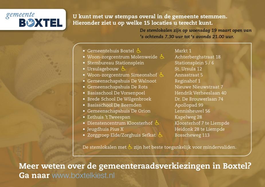 Gemeente Boxtel - Flyer gemeenteraadsverkiezingen