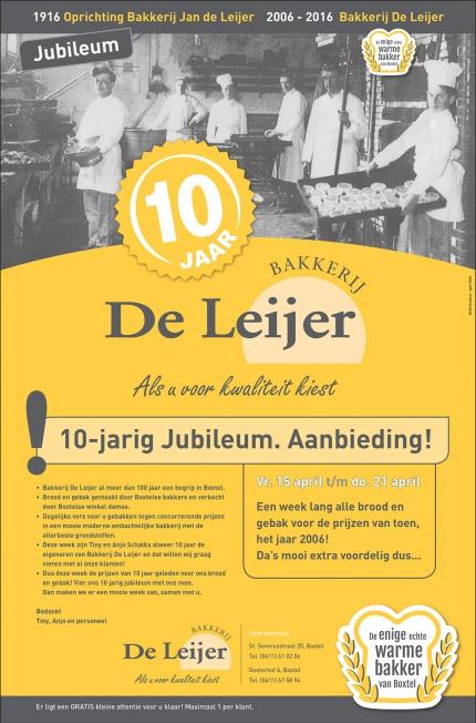 Bakkerij De Leijer - Advertenties diversen
