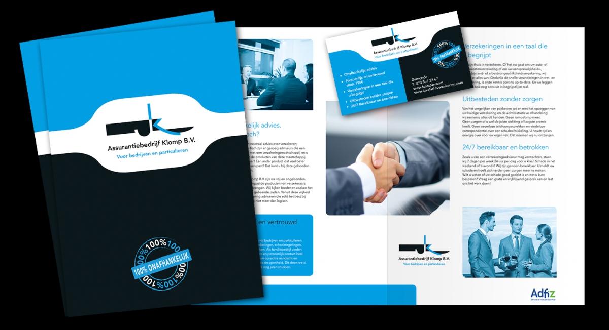 Klomp BV - Bedrijfsfolder + visitekaartje