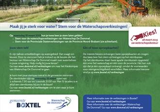 Gemeente Boxtel - Flyer verkiezingen Provinciale Staten