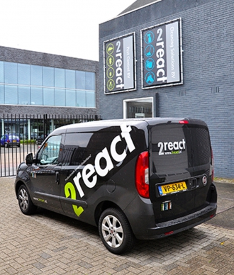 2React - Fiat Doblo Belettering