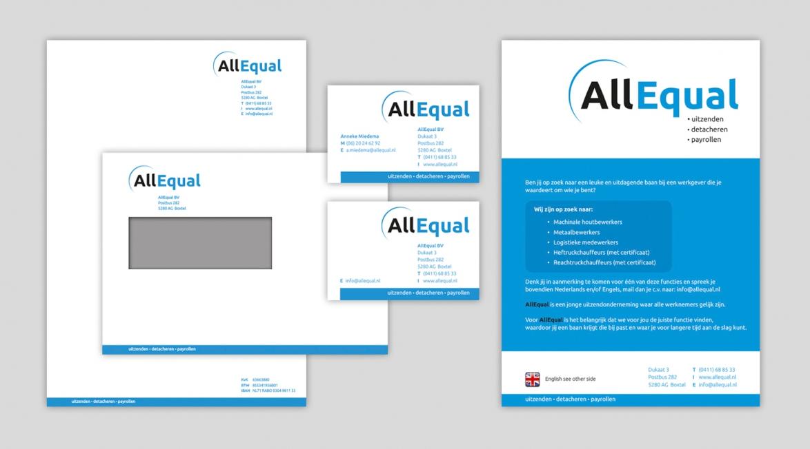 All Equal - Logo- en huisstijlontwerp