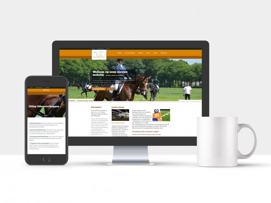 Paardrijvereniging Sint-Martinus - Webdesign
