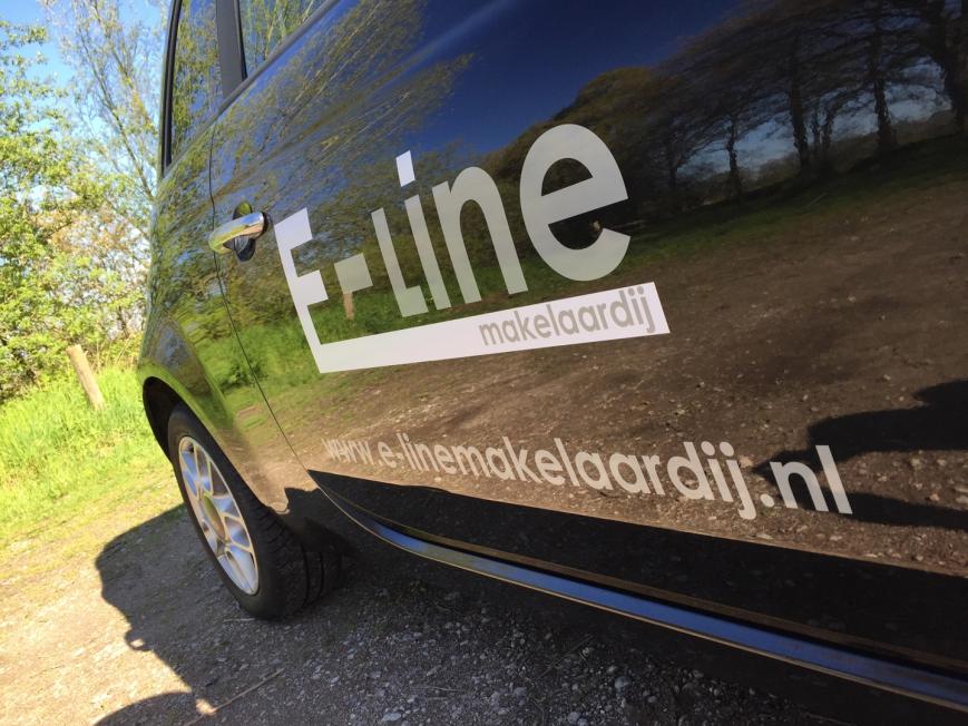 E-line Makelaardij - Belettering Fiat 500