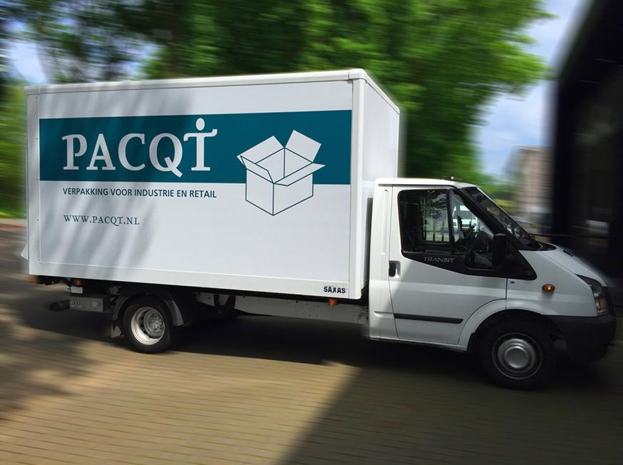 Pacqt - Belettering mini-vrachtwagen