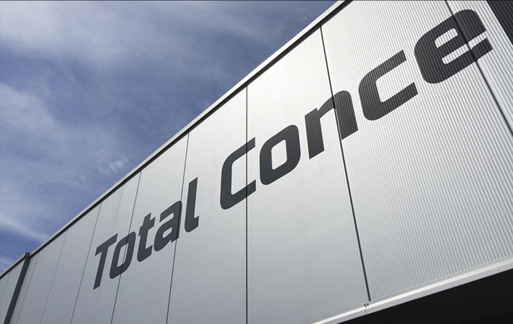 Total Concept Cars - Gevelreclame (vinylfolie-letters)