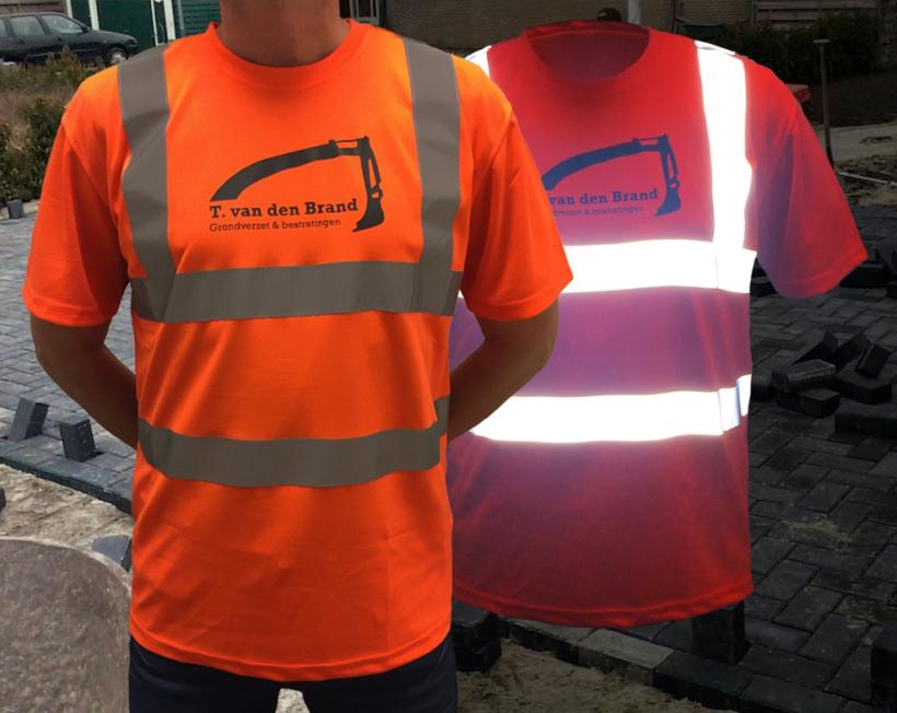 T. van den Brand Grondverzet & bestratingen - Veiligheids T-shirts (reflecterend)