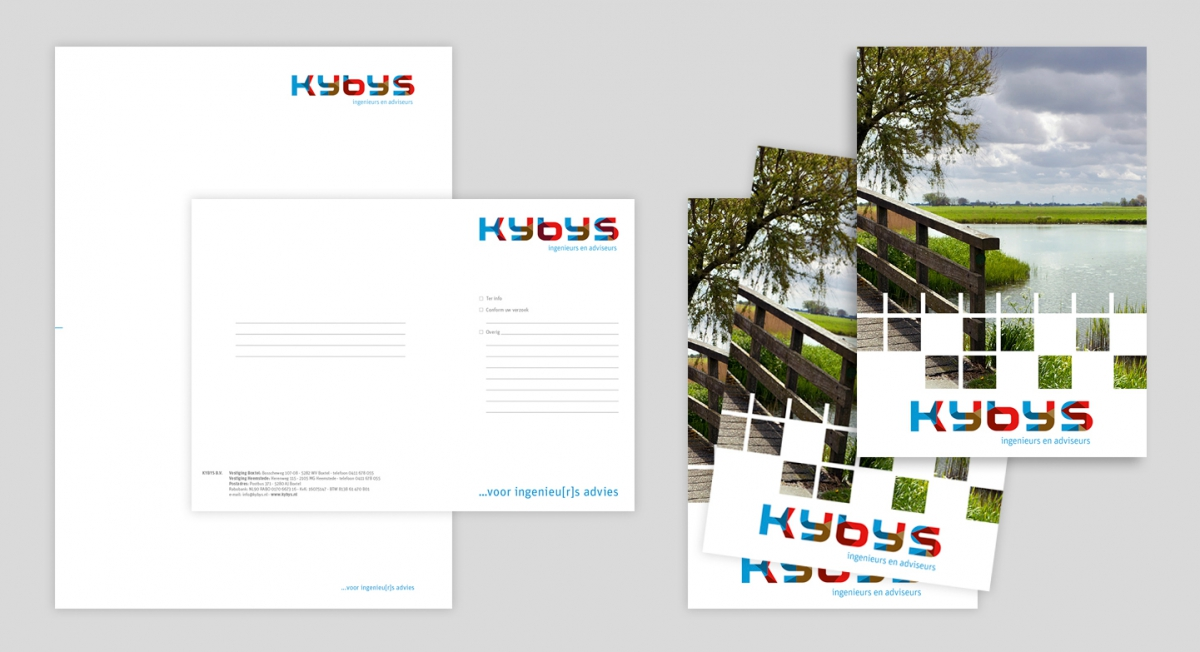 KYBYS - Briefpapier, flyers etc.