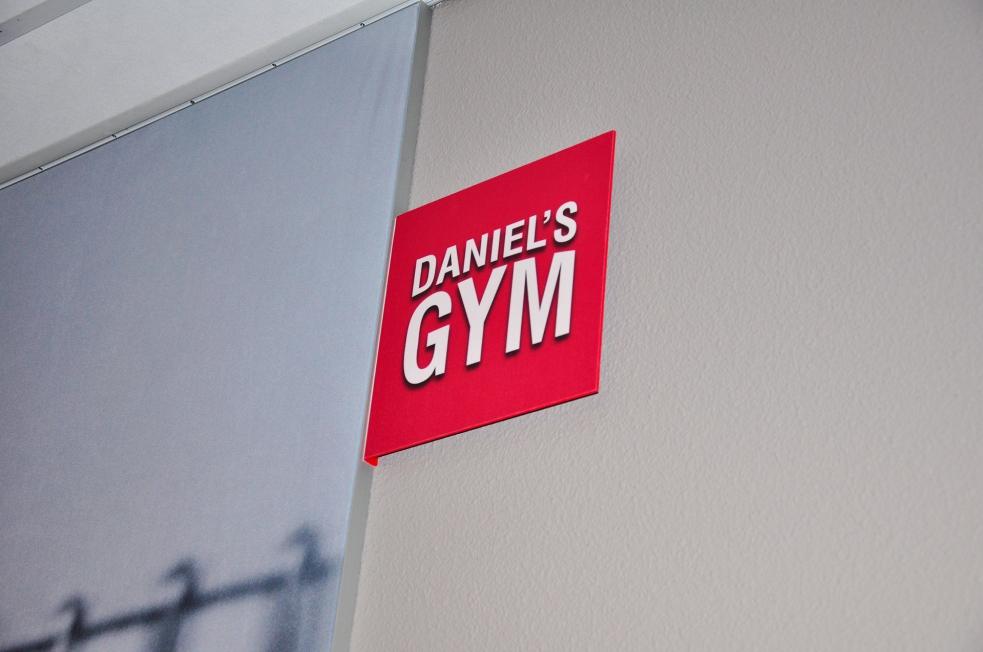 Daniel's Gym - Textielframes + Lichtbak