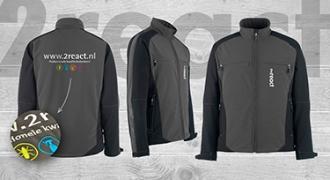 2React - Softshell jacks met borduring + Luxe parka's met opdruk