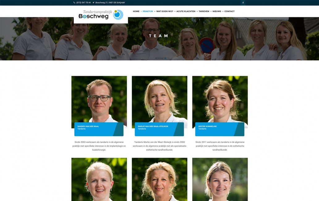 Boschweg Tandartsenpraktijk - Webdesign