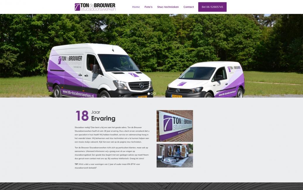 Ton de Brouwer Stucadoorswerken - Webdesign