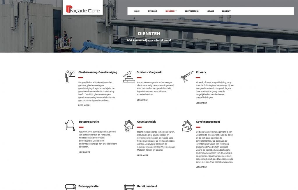 Façade Care - Webdesign