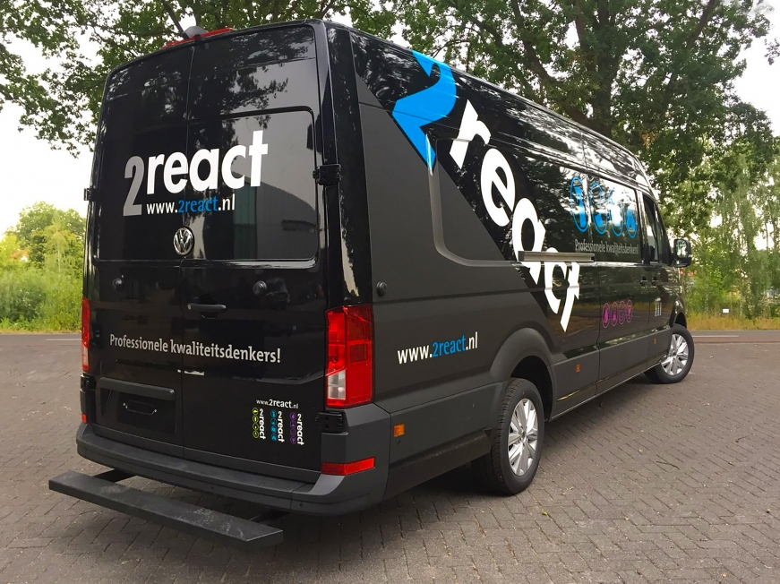 2React Cleaning Solutions - Busbelettering