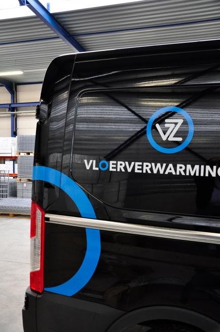 Vloerverwarming Zuid - Wagenpark belettering