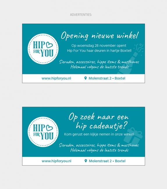 Hip For You - Logo en huisstijl ontwerp