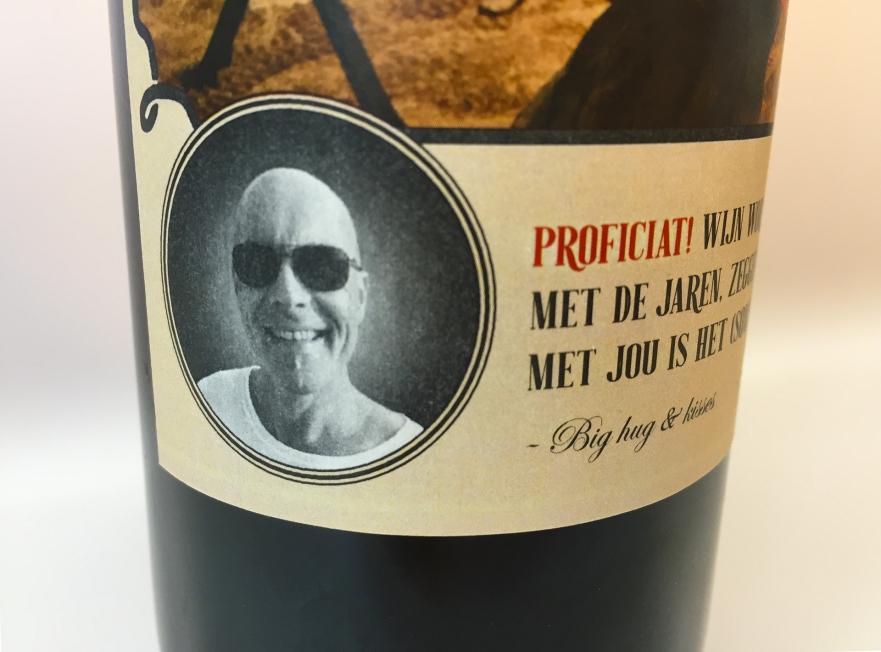 Diverse klanten - wijnfles-etiket