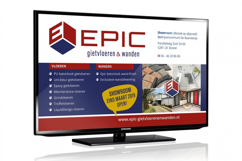 Epic Gietvloeren & Wanden - TV-reclame & huisstijl