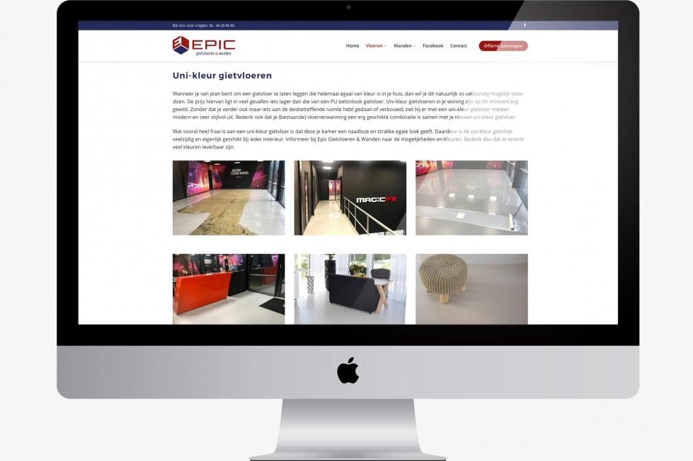 Epic Gietvloeren & Wanden - Webdesign