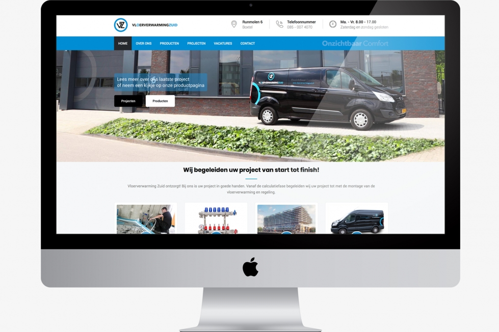 Vloerverwarming Zuid - Webdesign