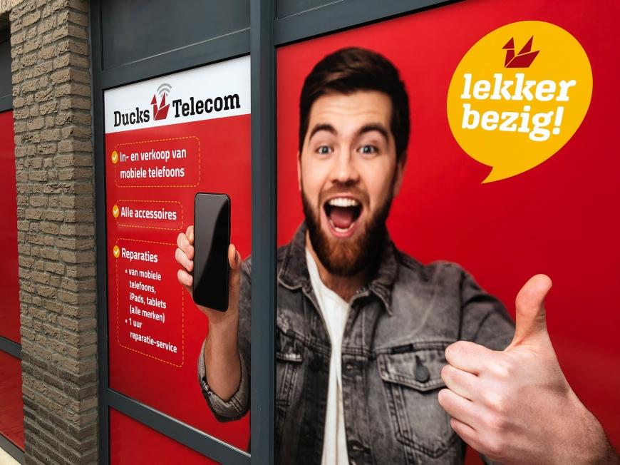 Ducks Telecom - Winkelbelettering