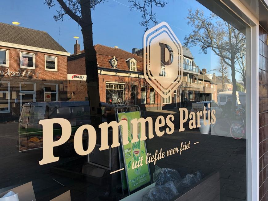 Cafetaria Pommes Partis - Winkelbelettering