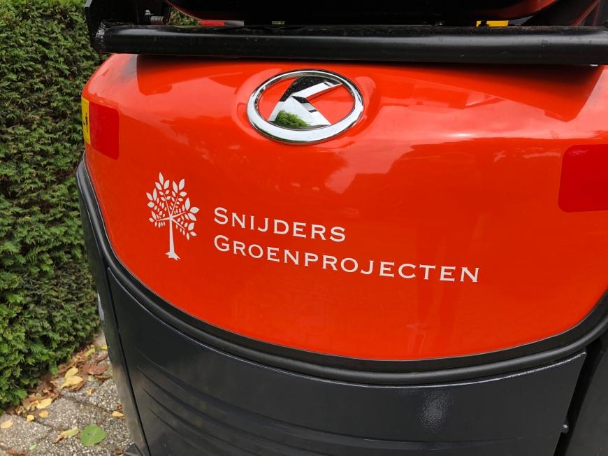 Snijders Groenprojecten - Bus- en minigraver belettering