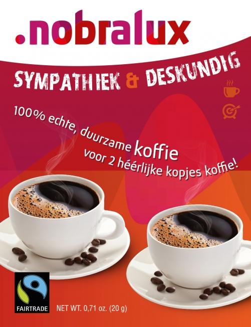 Nobralux - ontwerp koffielabel