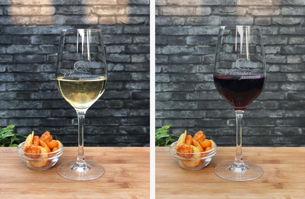 'T Tweespan - Gegraveerde wijnglazen