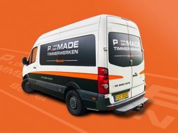 P. van der Made Timmerwerken - Busbelettering