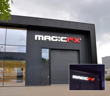 Magic FX - LED Doosletters t.b.v. gevel