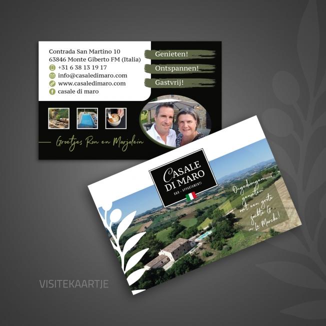 Casale di Maro - Logo-ontwerp, flyers en visitekaartjes
